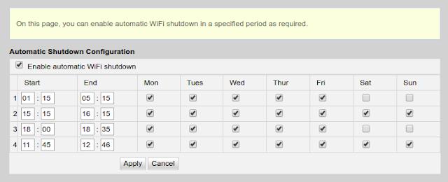 Memanfaatkan Fitur Automatic Shutdown Wifi Di Huawei HG8245H