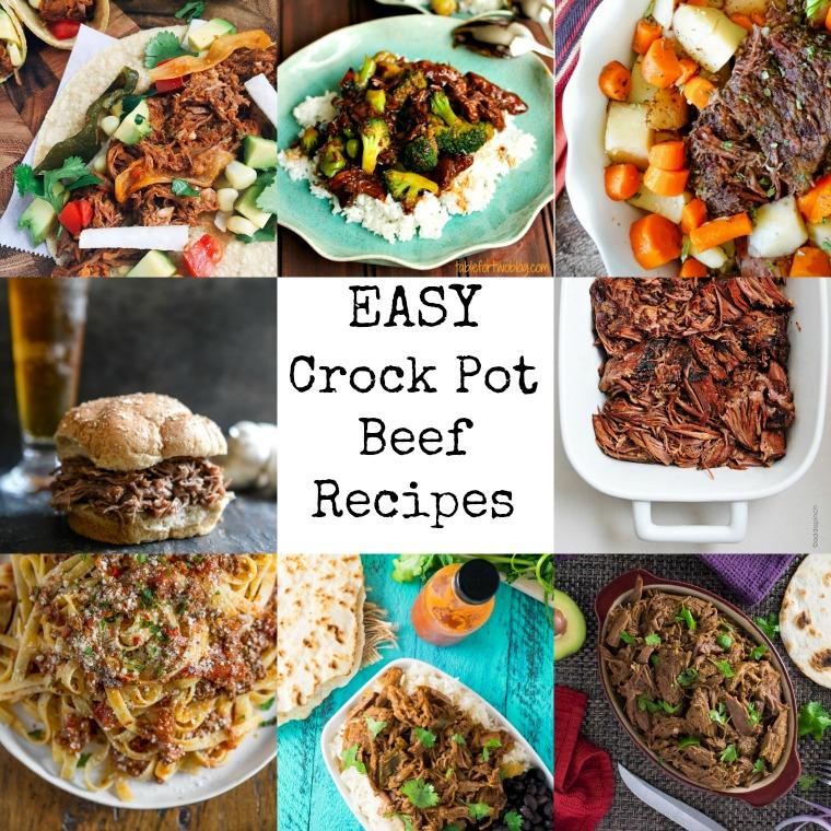 Easy Crock Pot Beef Recipes