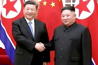 Presiden China dan Presiden Korea Utara