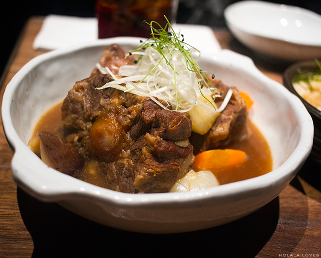 Slow Cooked Oxtail with Root Vegetables