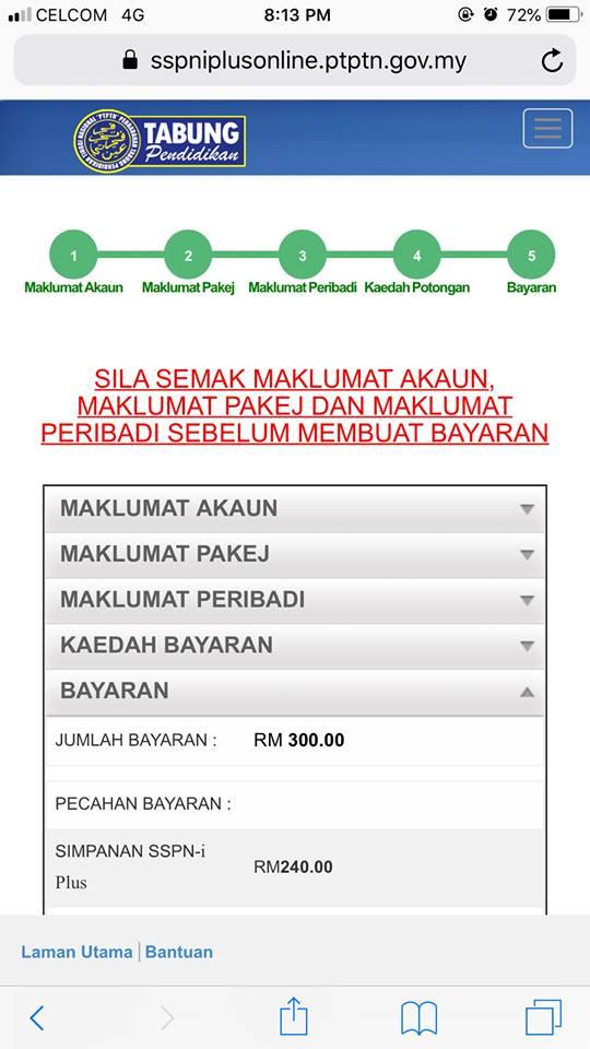 buka akaun sspn secara online