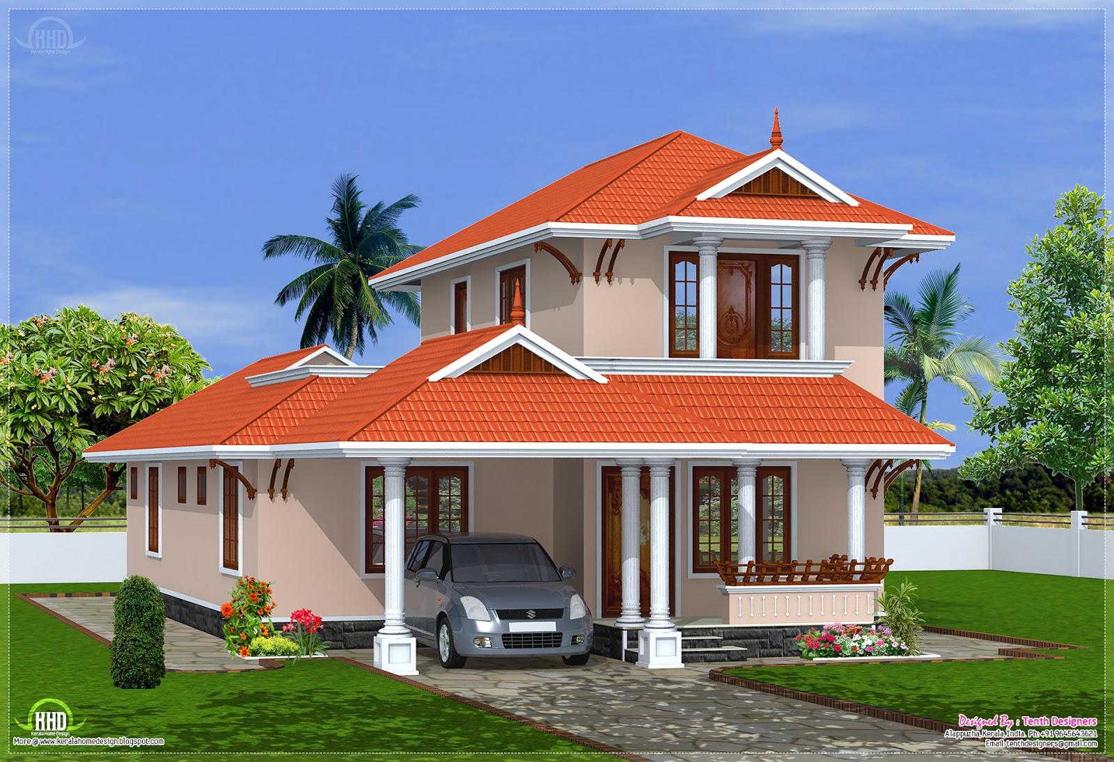 eco friendly houses: 2000 sq.feet Kerala model villa design