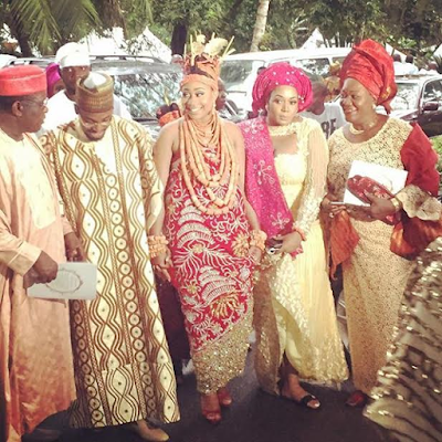 The traditional marriage ceremony of Umar Mantu and Orobosa, daughter of Esama of Benin, Chief Gabriel Igbinedion and his Jamaican born wife, Lady Cherry Igbinedion.