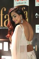 Prajna Actress in backless Cream Choli and transparent saree at IIFA Utsavam Awards 2017 0109.JPG