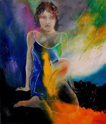 Jovem - Cores fortes e vibrantes nas pinturas de Pol Ledent