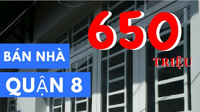 Bán nhà Quận 8 giá 650 triệu, hẻm 3m đường Phạm Thế Hiển