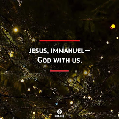 Emmanuel; God with us. Merry Christmas all