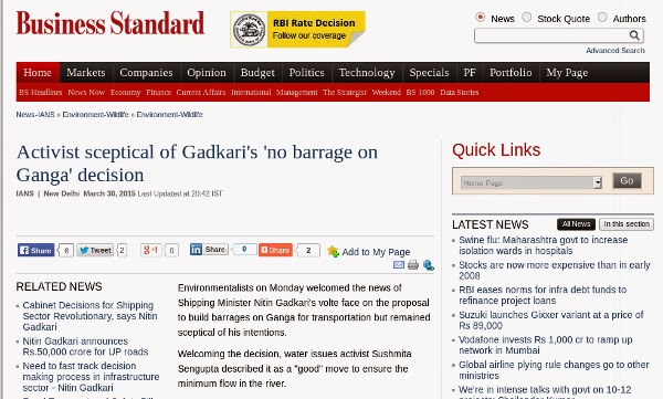 http://www.business-standard.com/article/news-ians/activist-sceptical-of-gadkari-s-no-barrage-on-ganga-decision-115033000907_1.html