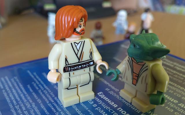 Оби-Ван Кеноби и магистр Йода фигурки лего купить отдельно