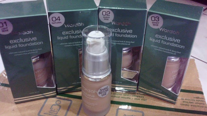 Review Wardah Exclusive Liquid Foundation Rekomendasi Alas Bedak yang Matte dan Ringan