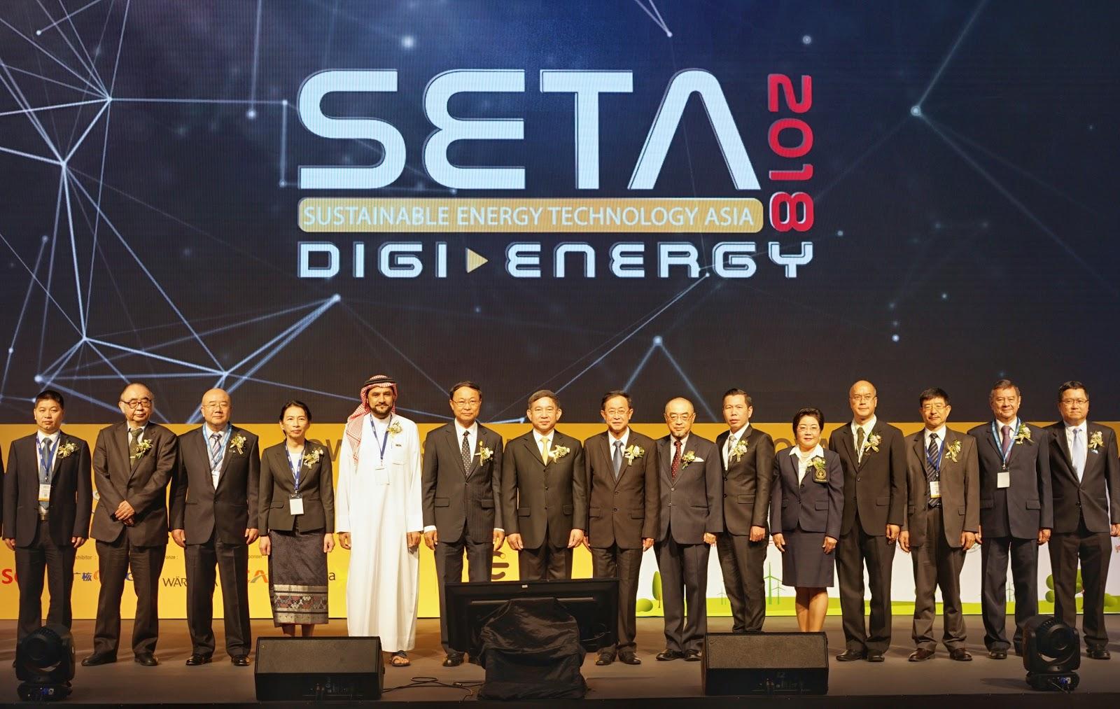 """เริ่มแล้ว.. SETA 2018   มหกรรมพลังงานและเทคโนโลยีที่ยั่งยืนแห่งเอเชีย จัดต่อเนื่องปีที่ 3   ภายใต้ธีม """"Towards Consolidated Innovative Energy Technology""""  เน้นชูผลงานนวัตกรรมเทคโนโลยียุคใหม่ขานรับไทยแลนด์4.0"""