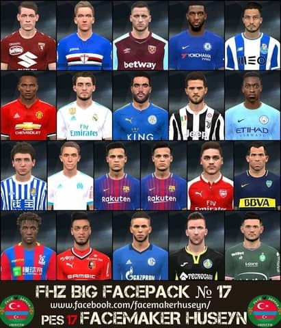PES 2017 FHZ Big Facepack №17