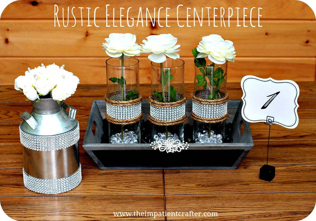 Elegant diy wedding centerpieces choice image wedding decoration ideas tutorials wedding the impatient crafter diy rustic elegance centerpiece junglespirit Gallery