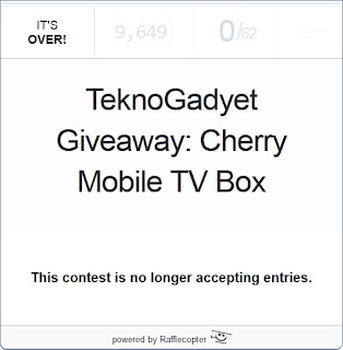 TeknoGadyet Giveaway: Cherry Mobile TV Box Winner