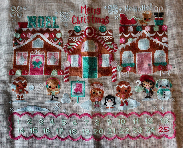 Frosted Pumpkin Stitchery Christmas on Gingerbread Lane