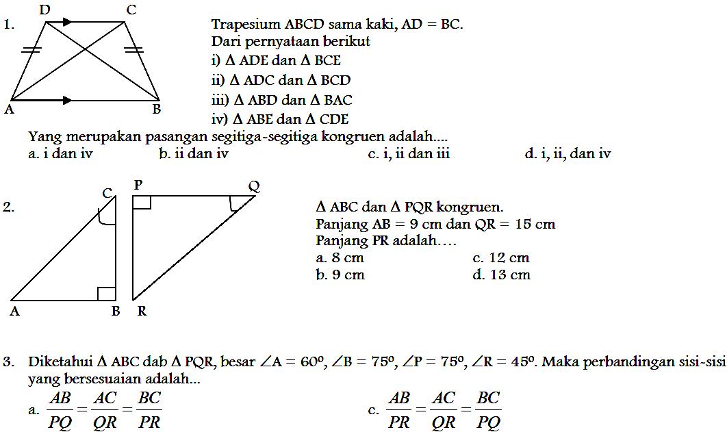 Soal Ujian Tengah Semester Kelas 9 Matematika Ilmusosial Id