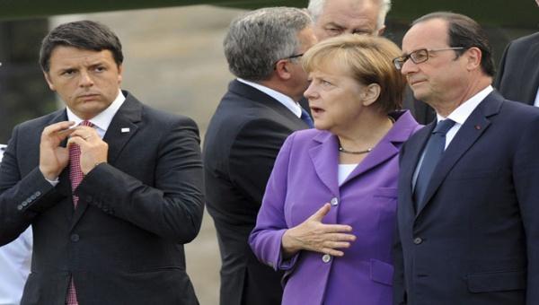 Italia, Francia y Alemania tratarán futuro de la UE tras Brexit