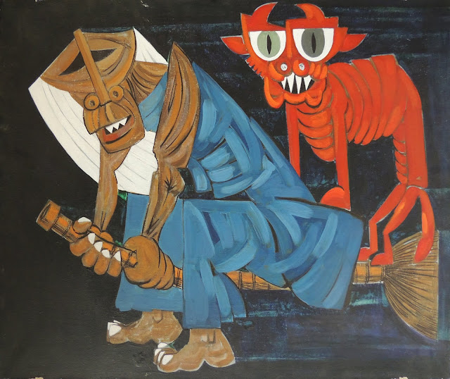 Antonio Patiño galicia óleo sobre lienzo sabbath