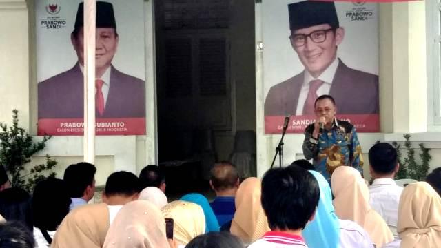 HSD Resmikan Rumah Pemenangan Prabowo-Sandi