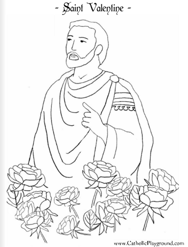 free coloring pages for all saints day | Author Maritza M Mejia: Valentine's Day Activity and more ...