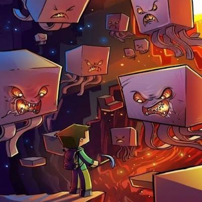caricatura steve contra ghast