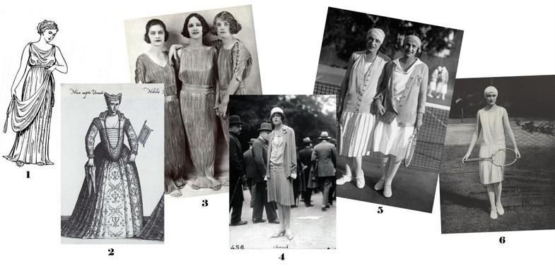 Historia plisowanych spódnic i sukienek od czasów antycznych do XX wieku.
