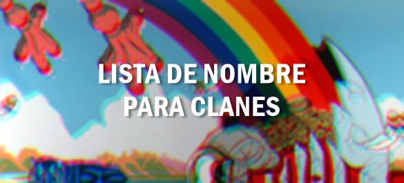 Lista De Nombre Para Clanes