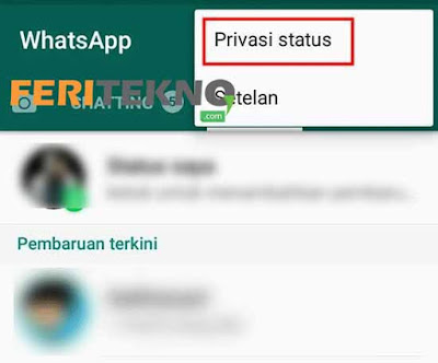Cara Hide Story WhatsApp 2