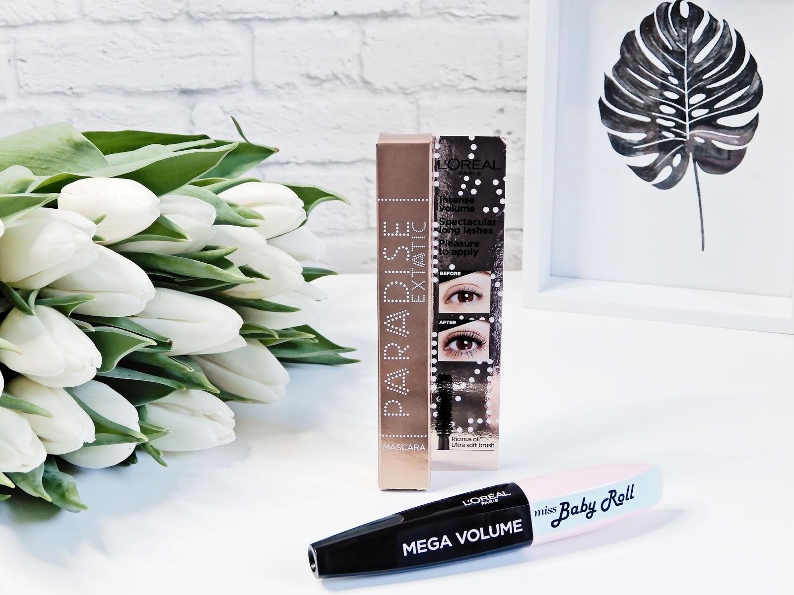 L'Oréal Paris Paradise Extatic Mascara, L'Oréal Mega Volume miss Baby Roll Mascara,