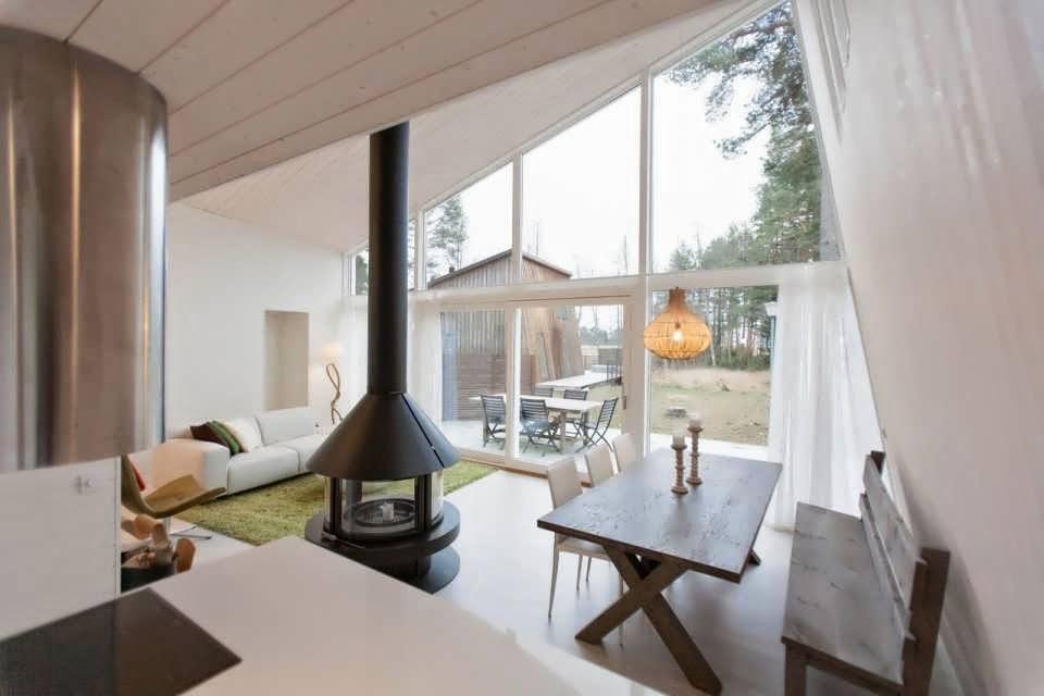 Sweden Modern Cabin House Minimalist Design in Middle of ...