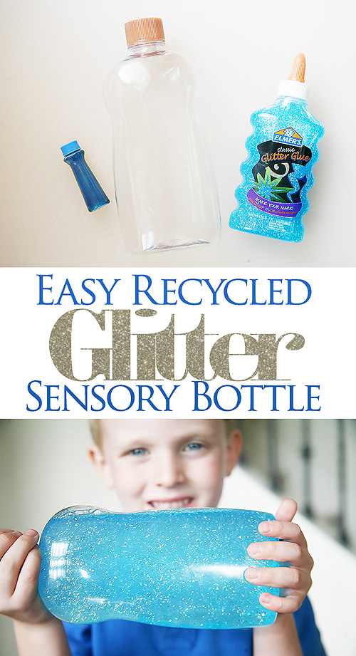 Easy Glitter Sensory Bottle Craft for Kids