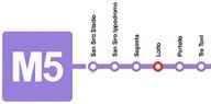 Milan lilac M5 Metro Line