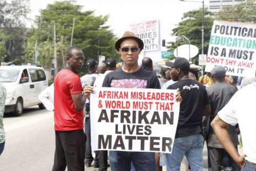 Nigerians Protest Against Slave Trade In Libya