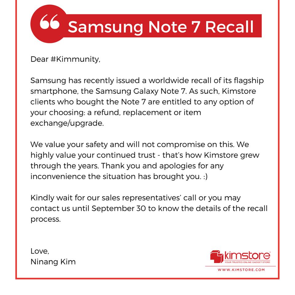 Samsung Galaxy Note 7 Kimstore