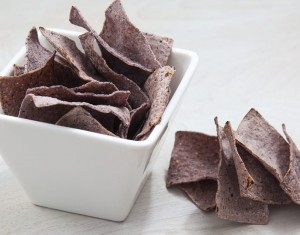 Baked Blue Corn Tortilla Chips