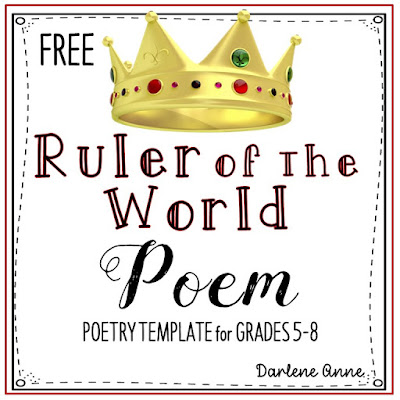 FREE POETRY RESOURCE | Use poetry templates for fool-proof poetry writing that gets kids' creativity flowing!