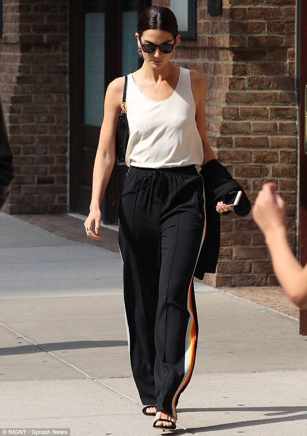 Lily Aldridge shows low key style out and about in NYC