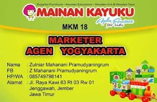Marketer Mainan Kayuku Yogyakarta Zulniar
