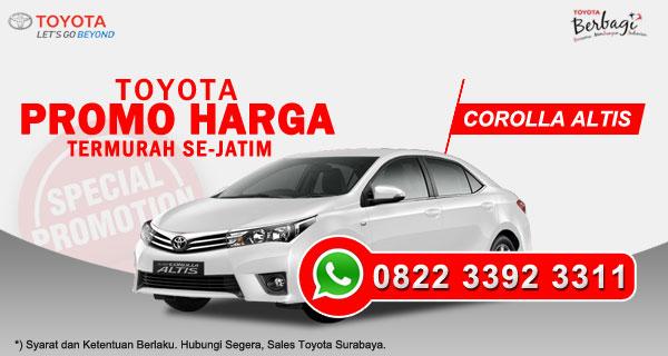 Promo Harga Toyota Corolla Altis Surabaya