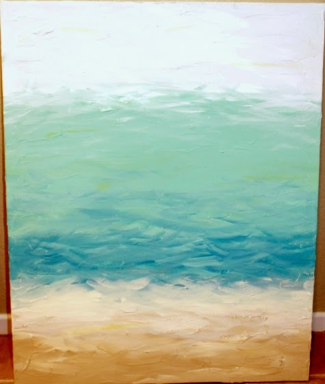 diy abstract sea painting