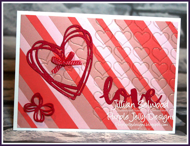 Melon Mambo, Hearts, Butterflies, Love, Pink, fluffy and frilly card