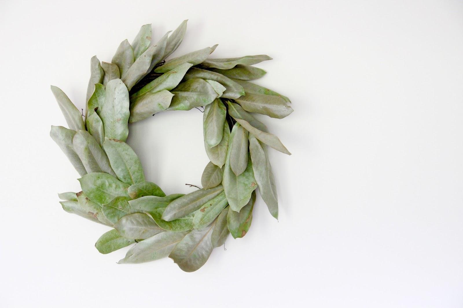 DIY Magnolia Wreath - Little Lovelies Blog