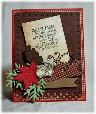 Stamps - Our Daily Bread Designs ODBD Custom Fancy Foliage Die, Autumn Blessings, ODBD Custom Fall Leaves and Acorn Die