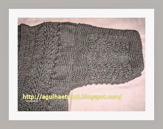 e586e6358f Tita Carré Agulha e Tricot : Colete com cordas em tricot e receita ...