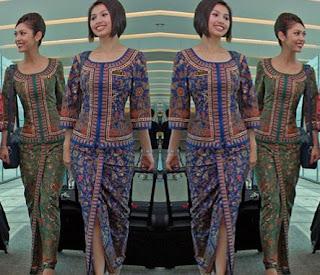 Baju batik pramugari untuk remaja wanita