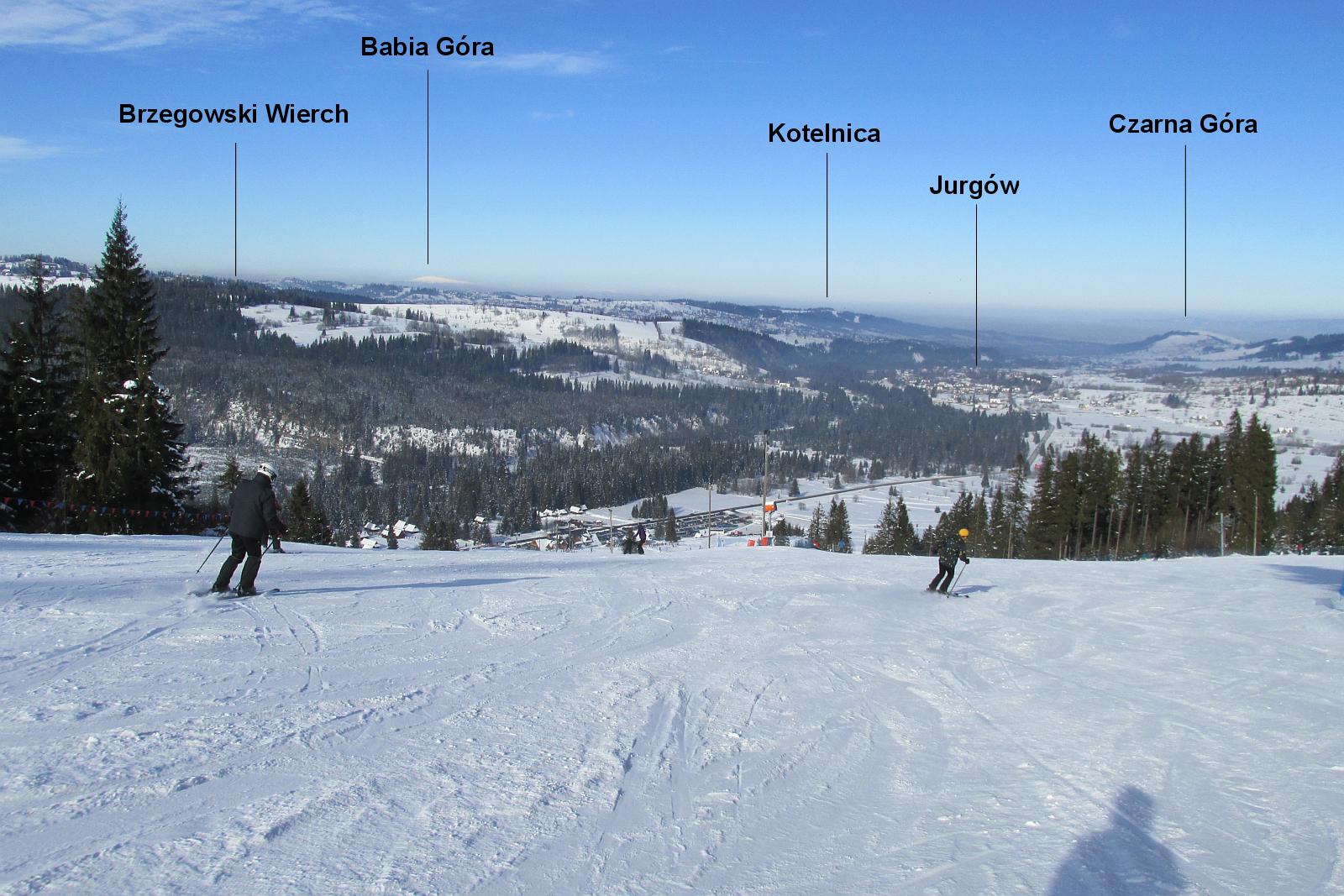 Widok w stronę Jurgowa.