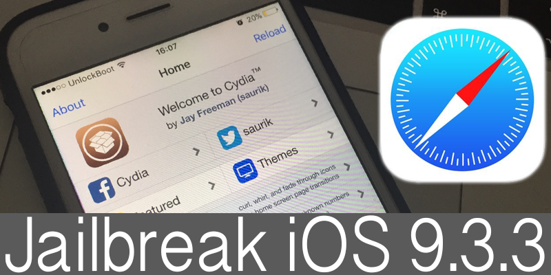 Jailbreak iOS 9.3.3 With Safari