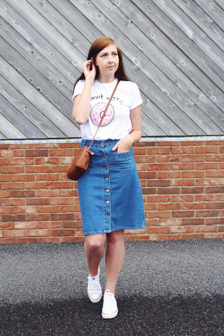 etailpr, wiw, whatimwearing, converse, primark, mididenimskirt, asseenonme, fbloggers, adolescentclothing, donutworry, statementtop, fblogger, fashion, fashionpost, ootd, outfitoftheday, lotd, lookoftheday, fashionbloggers, fashionblogger