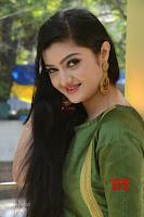 Akshitha cute beauty in Green Salwar at Satya Gang Movie Audio Success meet ~  Exclusive Galleries 034.jpg