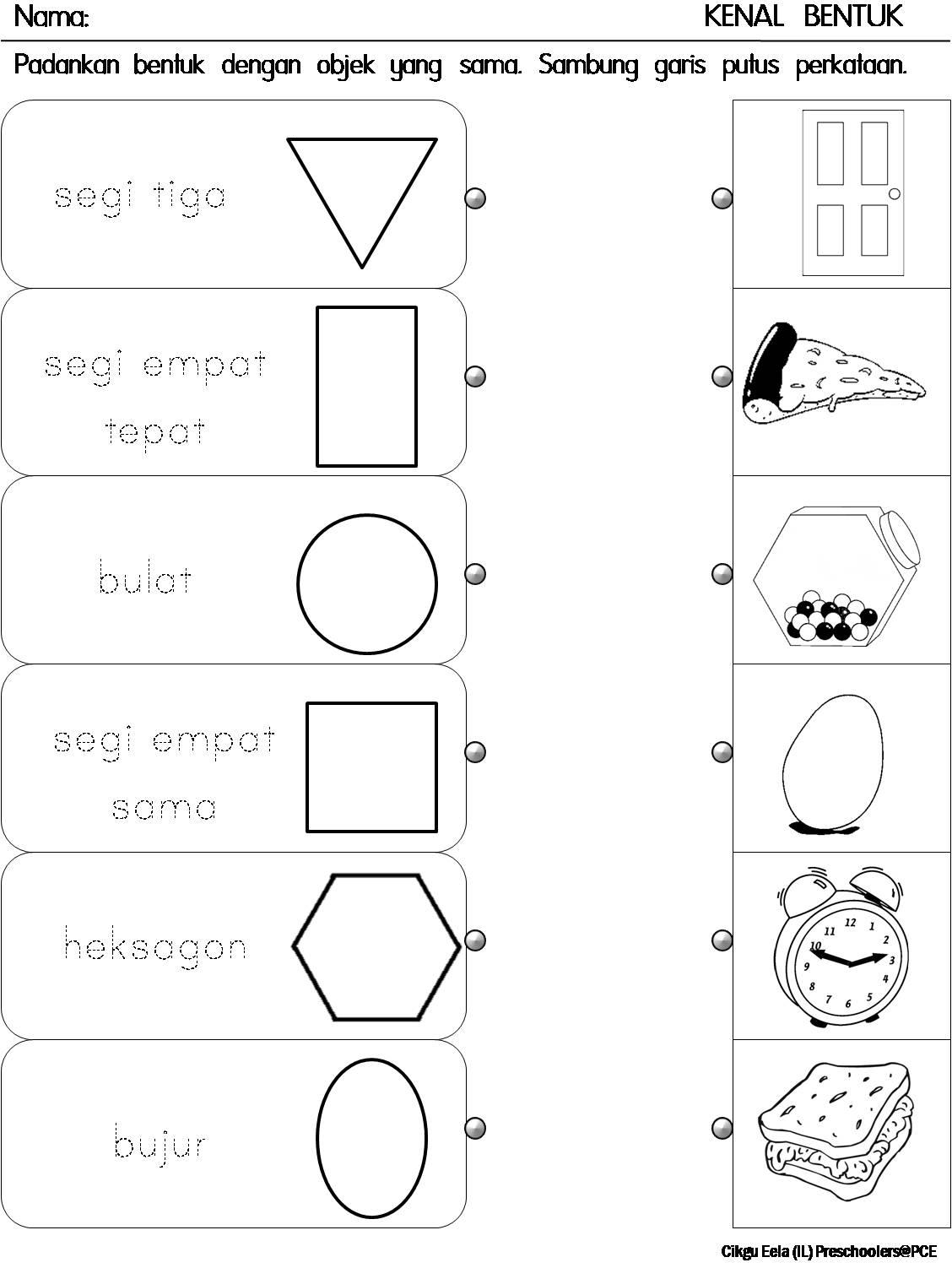 Cikgu Eela Il Preschoolers Pce Lembaran Kerja Kenal